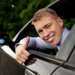 Driver thumbs up — Stock fotografie