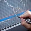 Financial data analyze - Stock Photo