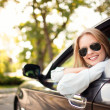 Young woman in her new car — Stock Photo #11983505