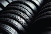Tire stack background — 图库照片