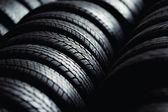 轮胎堆栈背景 — 图库照片