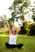 Yoga in the Park — Stock Photo