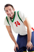Basketball player resting — Stock Photo