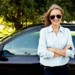 Royalty-Free Stock Photo: Woman and her new car