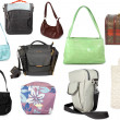 Different collection of handbags — Stock Photo