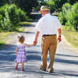 Grandfather and granddaughter — Stock Photo #11337365
