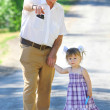 Grandfather and granddaughter — Stock Photo #11337383