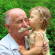 Stock Photo: Grandfather and granddaughter