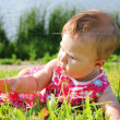 Stock Photo: A beautiful little girl in nature
