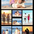 Couple on the beach — 图库照片