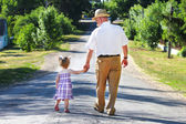 Grandfather and granddaughter — Foto Stock