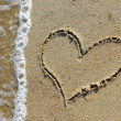 Heart in the sand - Foto de Stock