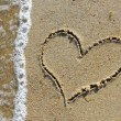 Heart in the sand - Stock fotografie