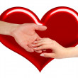 Two hands in love — Stock Photo