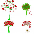 Stock Photo: Heart tree illustration