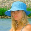 Young girl wearing a hat - Foto de Stock