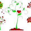 Heart tree illustration — Stockfoto