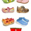 childrens shoes — Stock Photo
