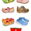 Childrens shoes - Stock fotografie