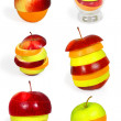 Mix fruit collection - Stock Photo
