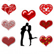 Stock Photo: Collection of hearts love