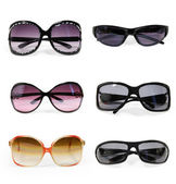Collection of sunglasses isolated — Stock Photo