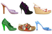 Female shoes isolated — Stock Photo