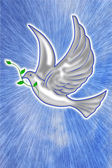 White dove illustration — Stock Photo