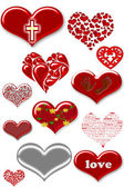 Collection of hearts love — Stock Photo