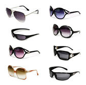 Collection of sunglasses — 图库照片