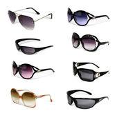 Sammlung von sonnenbrillen — Stockfoto
