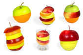 Mix fruit collection — Stock Photo