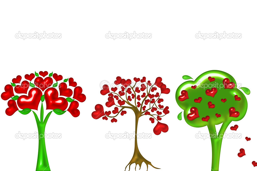 Heart tree illustration — Stock Photo #11497607