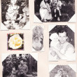 Stock Photo: Vintage old photos of