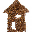 House of Coffee Beans - Stock Photo