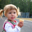 Stock Photo: Child with ice cream
