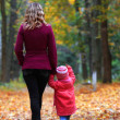 Mother and daughter in park — Stock Photo