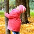 A beautiful little girl in nature — Stock Photo