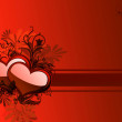 Illustration background with heart — Stock Photo