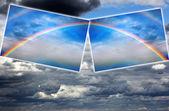 Brightly color rainbow — Stock Photo