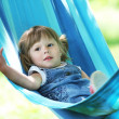 Little girl on a hammock - 