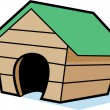 Dog House — Stock Vector
