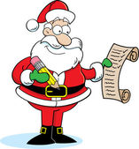 Santa Claus Checking His List — Stock Vector
