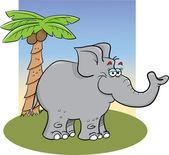 Grey elephant — Stock Vector