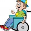 Boy in a wheelchair — Stock Vector #11713514