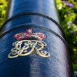Cannon with Crown Symbol and GR — Stock Photo