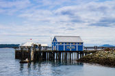 Pier and Boardwalk in Sydney BC — Stock Photo
