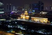 Singapore Parlament at Night — Stock Photo
