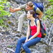 The couple in the hike — Stock Photo