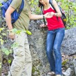 Royalty-Free Stock Photo: The couple in the hike